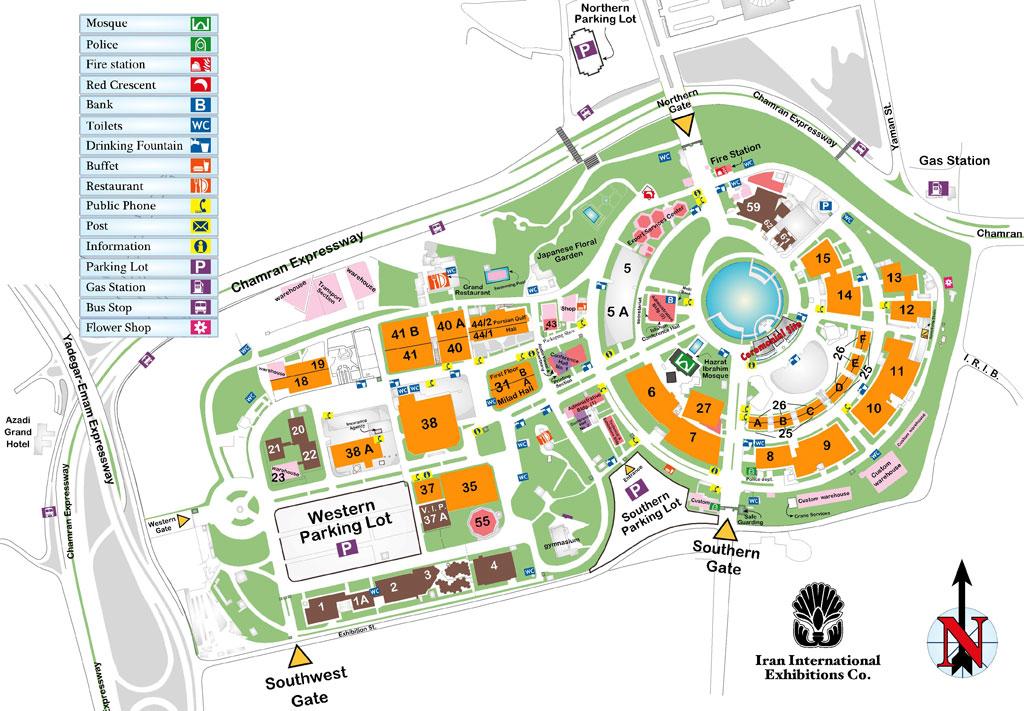 تصویر از نقشه نمایشگاه بین المللی