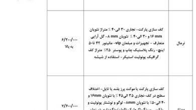 Photo of صورتجلسه قیمت گذاری انجمن غرفه سازان