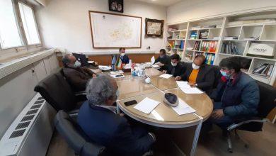 تصویر از جلسه بررسی روند اجرایی HSE برق با حضور پیمانکار ناظر و هیات مدیره انجمن